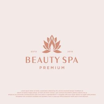 Modello di logo di beauty spa