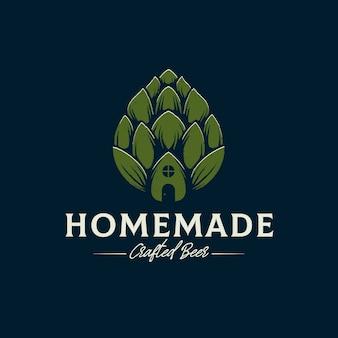 Modello di logo di birra fatta in casa