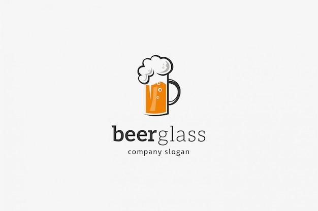 Modello di logo di birra