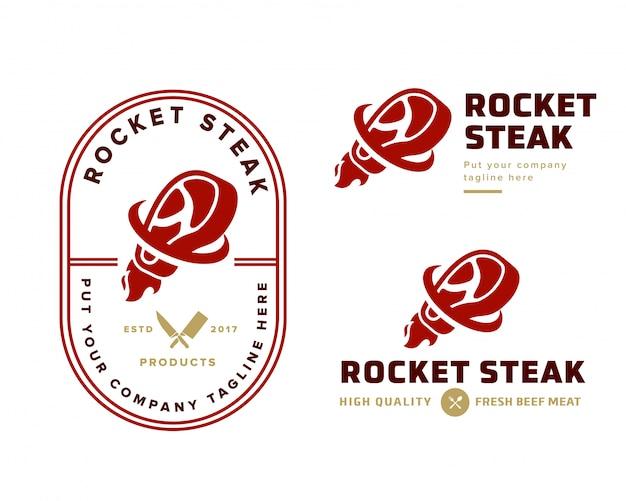 Modello di logo di bistecca