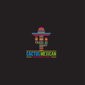 Modello di logo di cactus