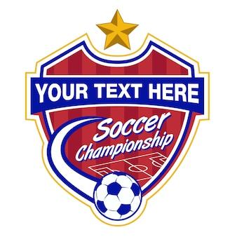 Modello di logo di calcio