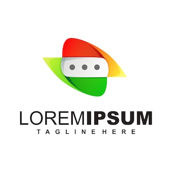 Modello di logo di chat