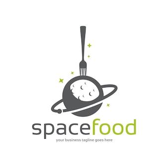 Modello di logo di cibo dello spazio