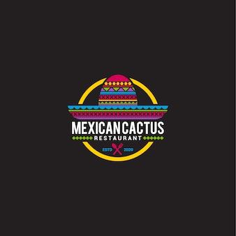 Modello di logo di cibo messicano