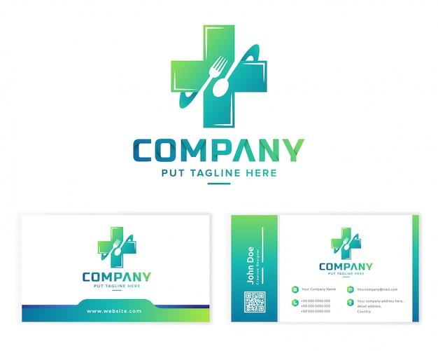 Modello di logo di cibo sano per azienda