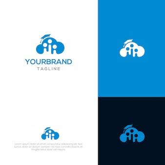 Modello di logo di cloud academy