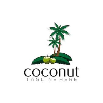 Modello di logo di cocco