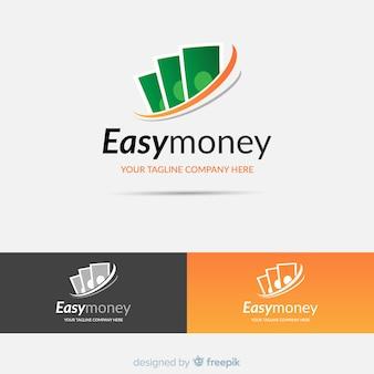 Modello di logo di concetto di denaro