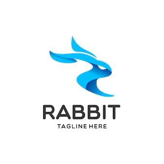 Modello di logo di coniglio