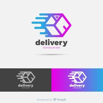 Modello di logo di consegna astratta