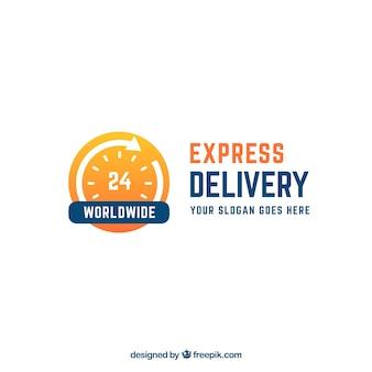 Modello di logo di consegna in tutto il mondo