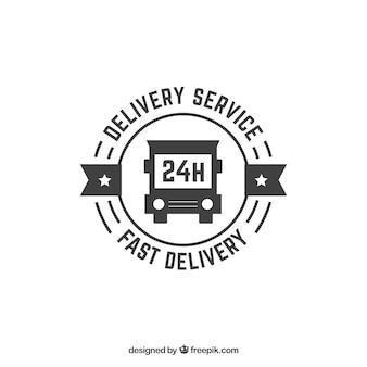 Modello di logo di consegna nero