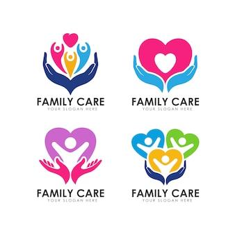 Modello di logo di cura della famiglia