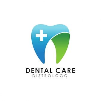 Modello di logo di cura dentale