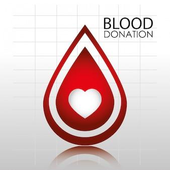Modello di logo di donazione di sangue