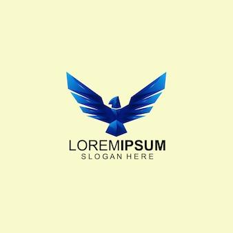 Modello di logo di eagle bird