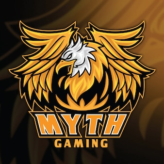 Modello di logo di eagle griffin esport