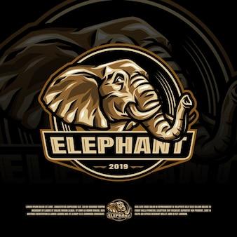 Modello di logo di elefante esports