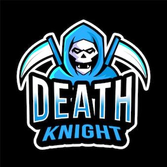 Modello di logo di esport cavaliere della morte