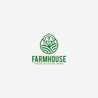 Modello di logo di fattoria