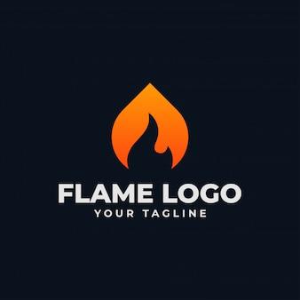 Modello di logo di fiamma astratta