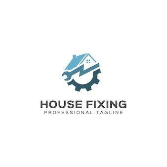Modello di logo di fissaggio casa