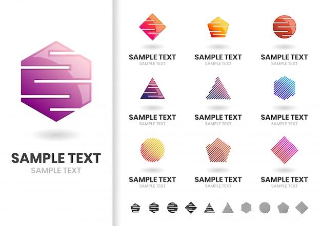 Modello di logo di forma moderna