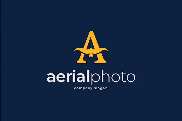 Modello di logo di foto aerea
