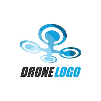 Modello di logo di fotografia aerea