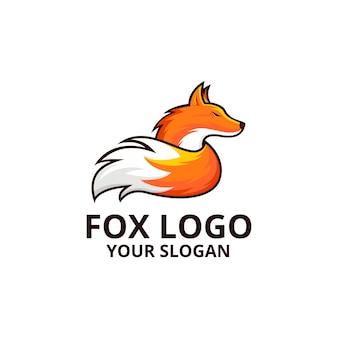 Modello di logo di fox