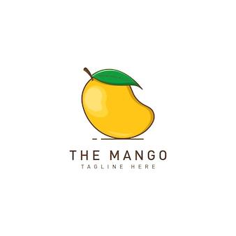 Modello di logo di frutta di mango