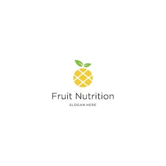 Modello di logo di frutta nutrizione