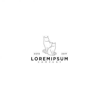 Modello di logo di gatto