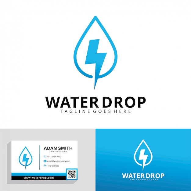 Modello di logo di goccia d'acqua