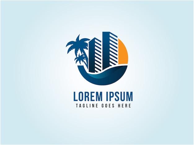 Modello di logo di hotel e resort