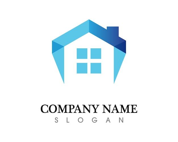 Modello di logo di immobili e edifici residenziali