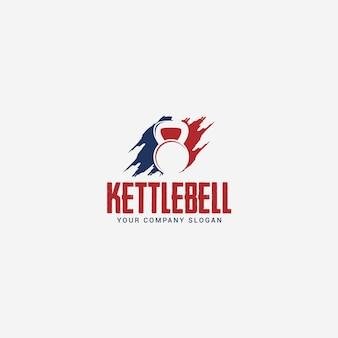 Modello di logo di kettlebell