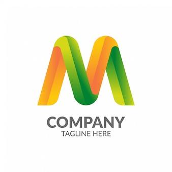 Modello di logo di lettera m.