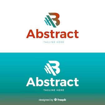 Modello di logo di lettera per sfondo chiaro e scuro