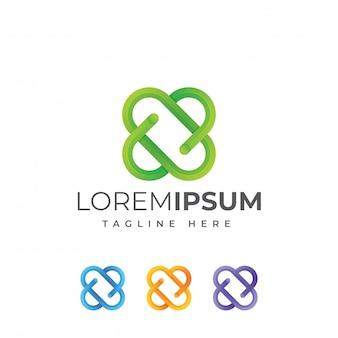 Modello di logo di lettera x