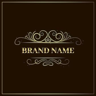 Modello di logo di lusso elegante dorato