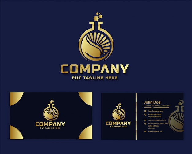 Modello di logo di lusso premium natura lavoro