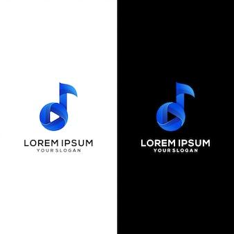 Modello di logo di media musicali