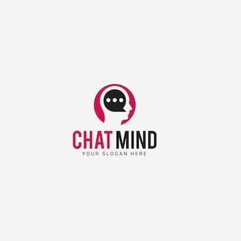 Modello di logo di mente mentale