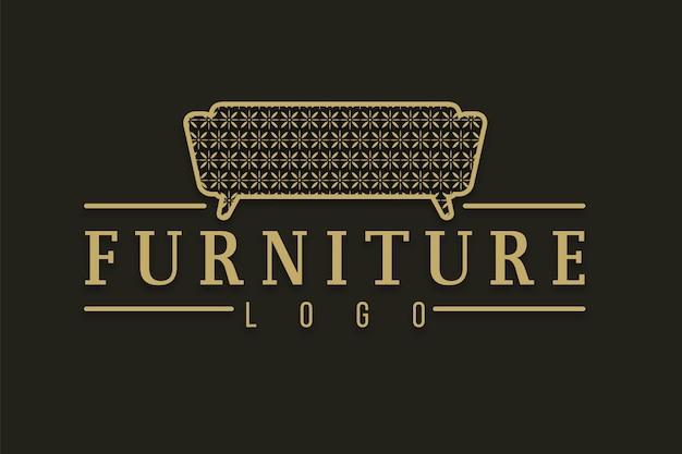 Modello di logo di mobili eleganti