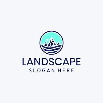 Modello di logo di montagna