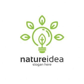 Modello di logo di natureidea