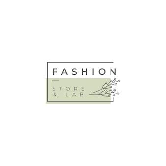 Modello di logo di negozio e laboratorio di moda