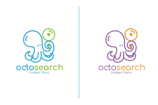 Modello di logo di octosearch